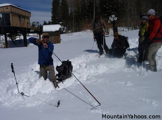 Avalanche probe training