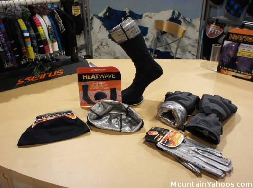 Seirus Heatwave Ski Gloves, hats and socks