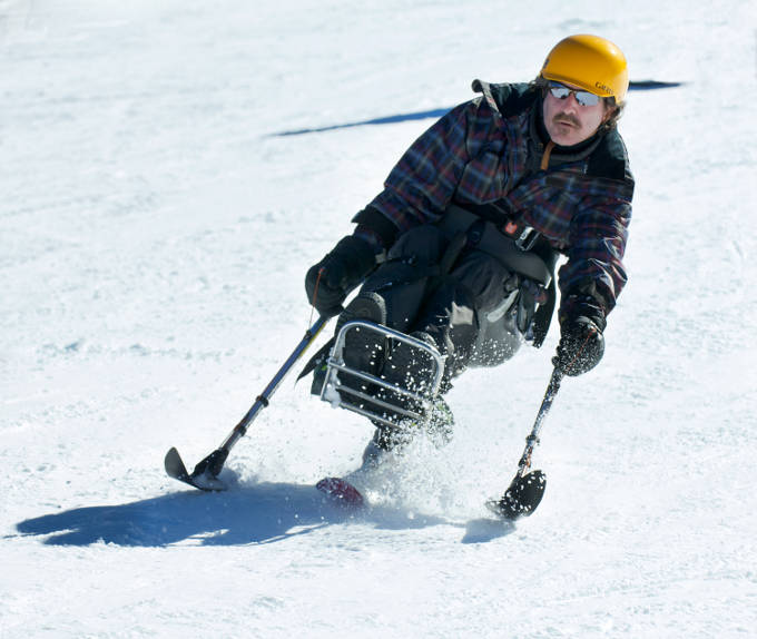 Disabled Para-Alpine Skiing