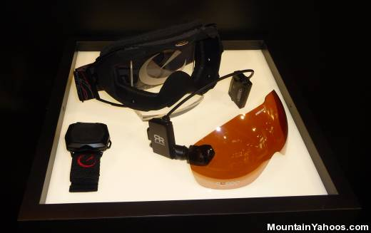 Goggles with GPS displays
