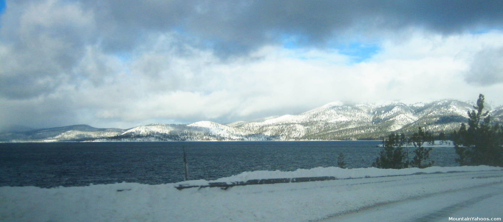 Lake Drive Along The Coast Of Lake Tahoe California