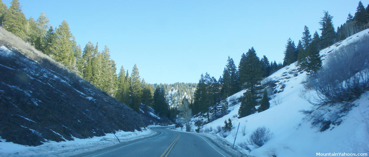 Ogden Canyon Road On The Way To Powder Mountain