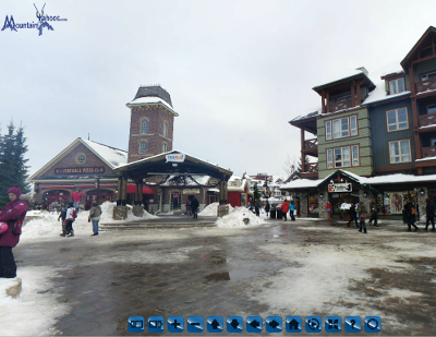 Blue Mountain village panoramic view
